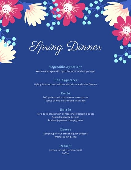 3 Course Meal Menu Templates Elegant Customize 404 Dinner Party Menu Templates Online Canva