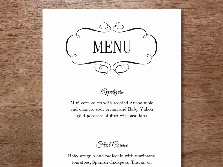 3 Course Meal Menu Templates Inspirational 45 Best Images About Printable Wedding Menu Templates On