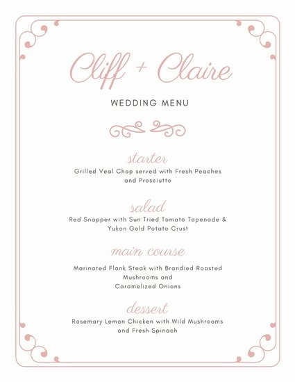 3 Course Meal Menu Templates Inspirational Customize 273 Wedding Menu Templates Online Canva
