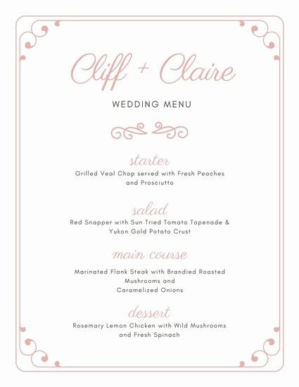 3 Course Meal Menu Templates Inspirational Customize 273 Wedding Menu Templates Online Canva
