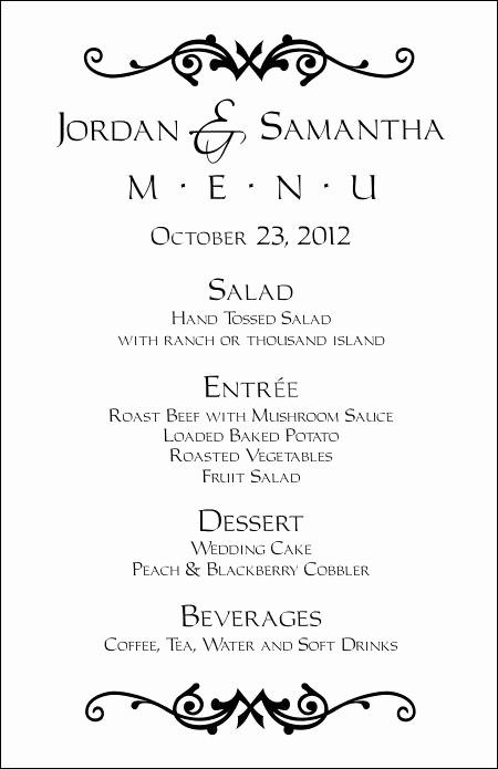 3 Course Meal Menu Templates Luxury Wedding Menu Templates