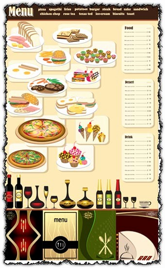 3 Course Meal Menu Templates New forum Contest Create A 6 Course Meal and Menu Winners