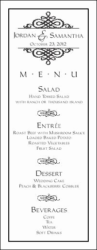 3 Course Meal Menu Templates New Wedding Menu Templates for Free
