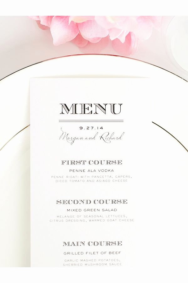 3 Course Meal Menu Templates Unique 25 Best Ideas About Menu Cards On Pinterest