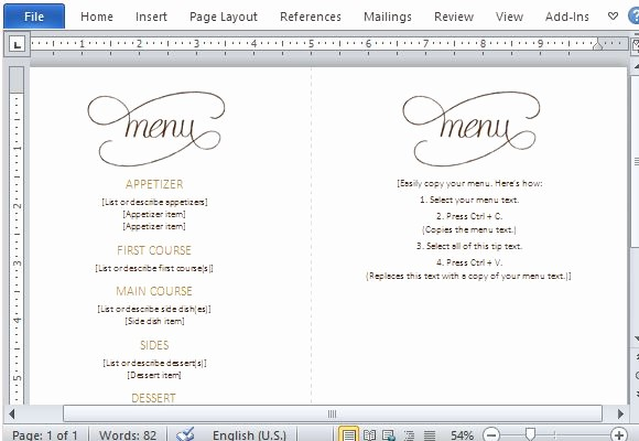 3 Course Meal Menu Templates Unique Best Thanksgiving Templates for Microsoft Word