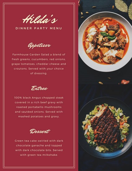 3 Course Meal Menu Templates Unique Customize 404 Dinner Party Menu Templates Online Canva