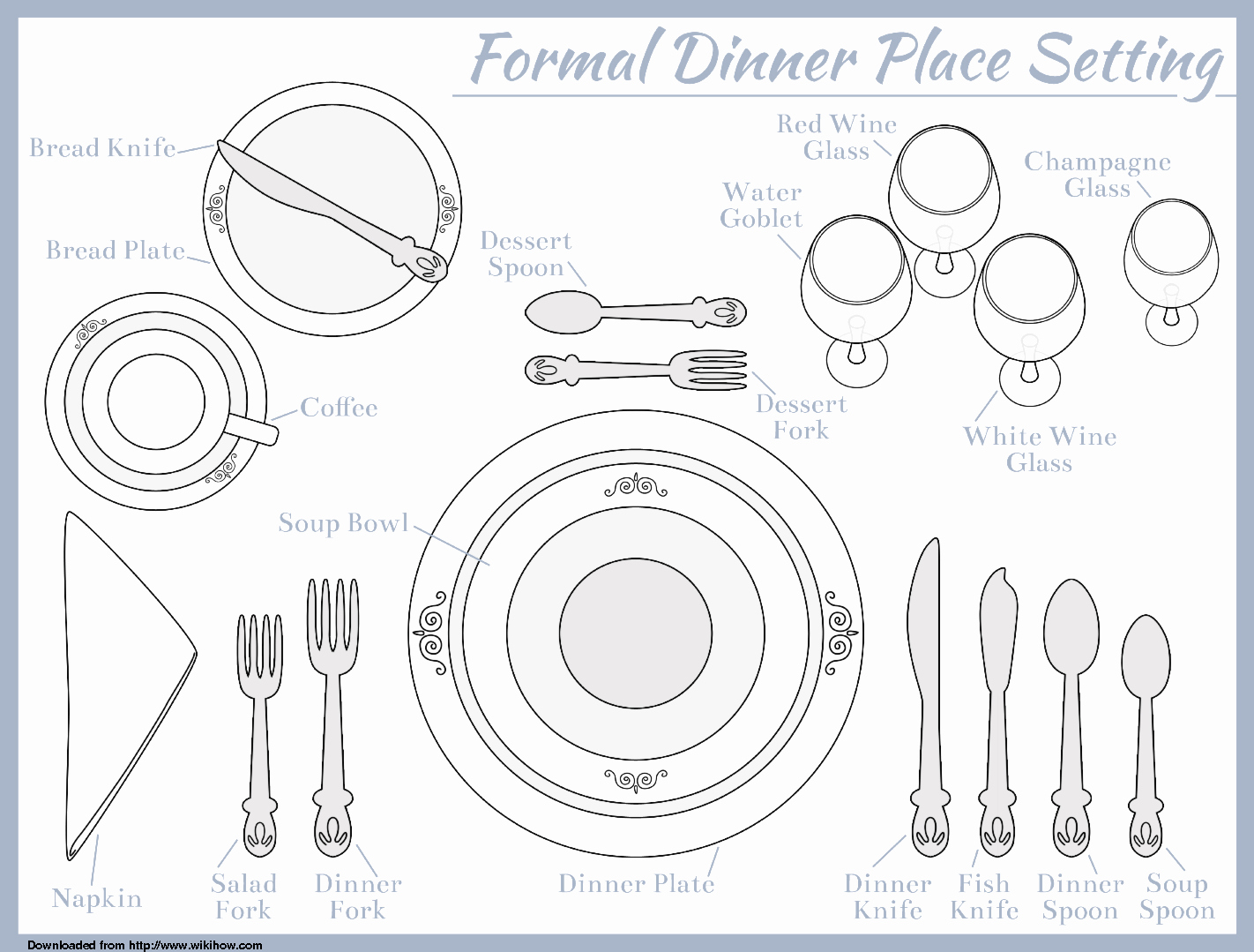 3 Course Meal Menu Templates Unique Place Setting Template for Seven Course Meal