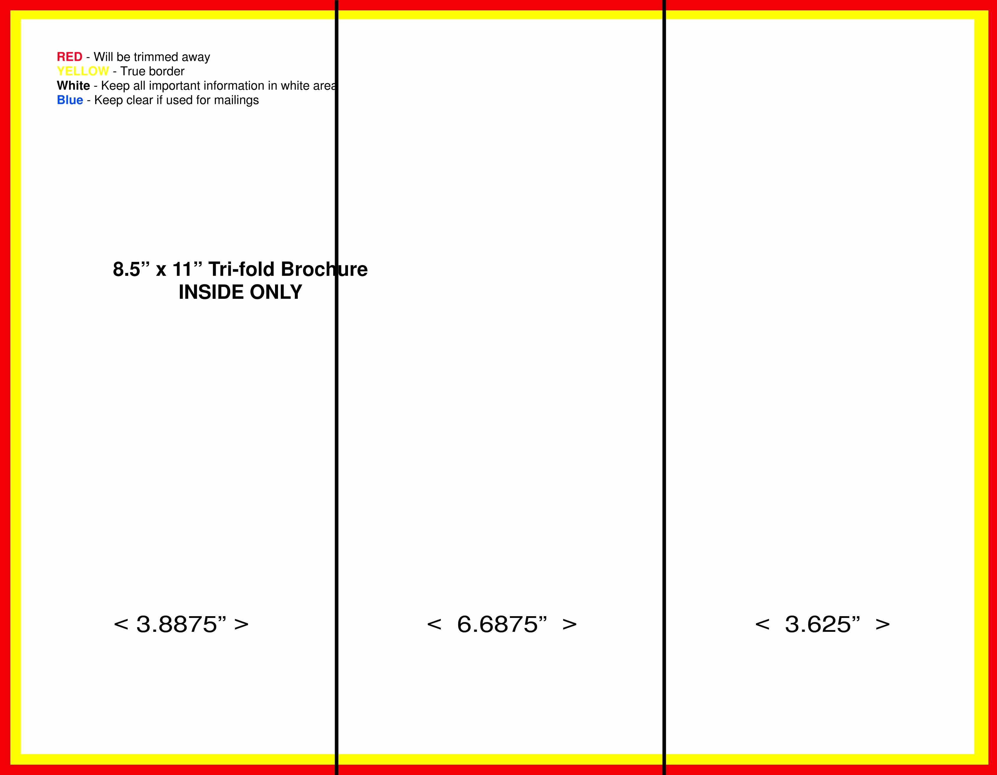 3 Fold Brochure Template Word Best Of Blank Tri Fold Brochure Template Free Download