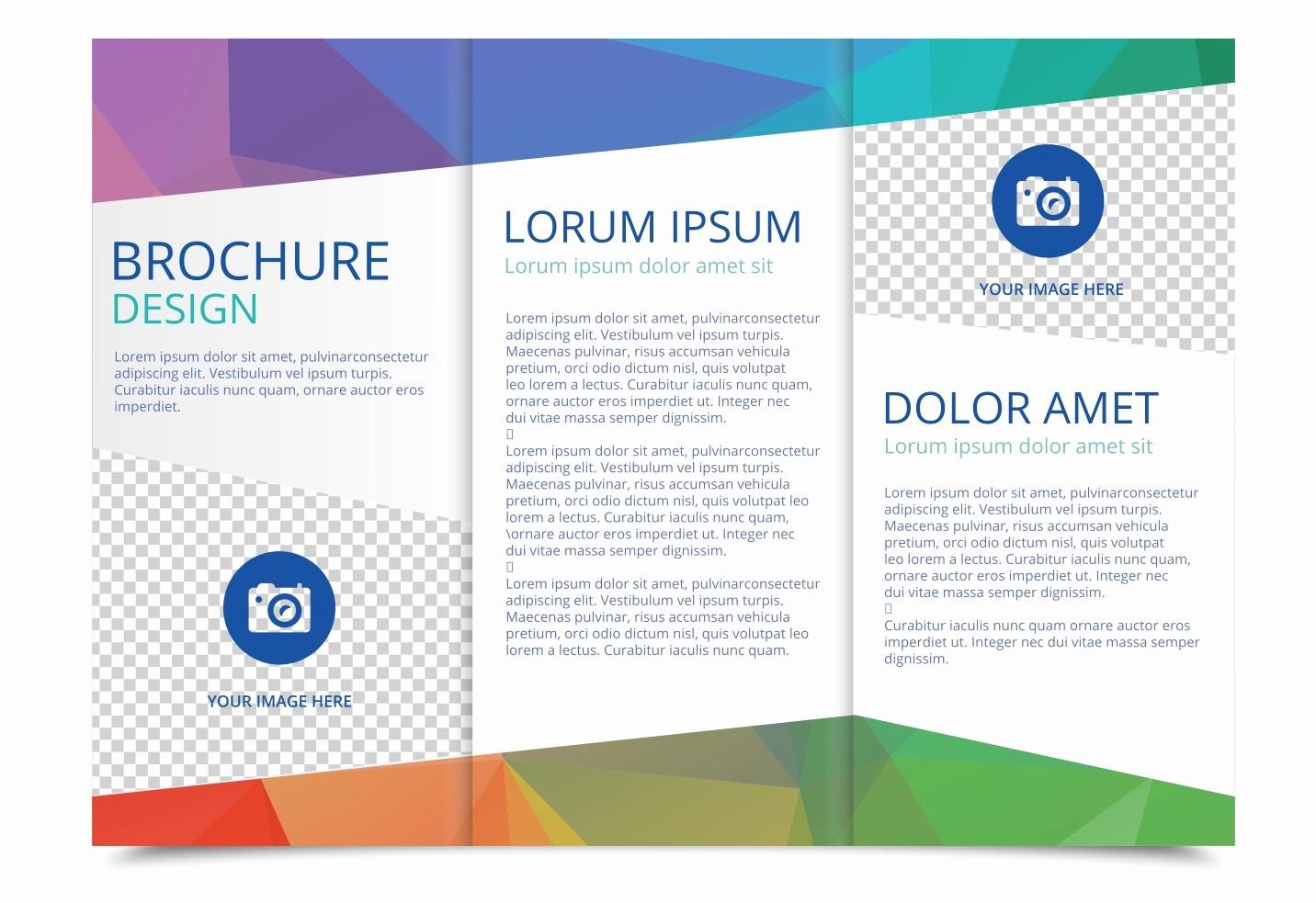 3 Fold Brochure Template Word Lovely Tri Fold Brochure Vector Template Download Free Vector