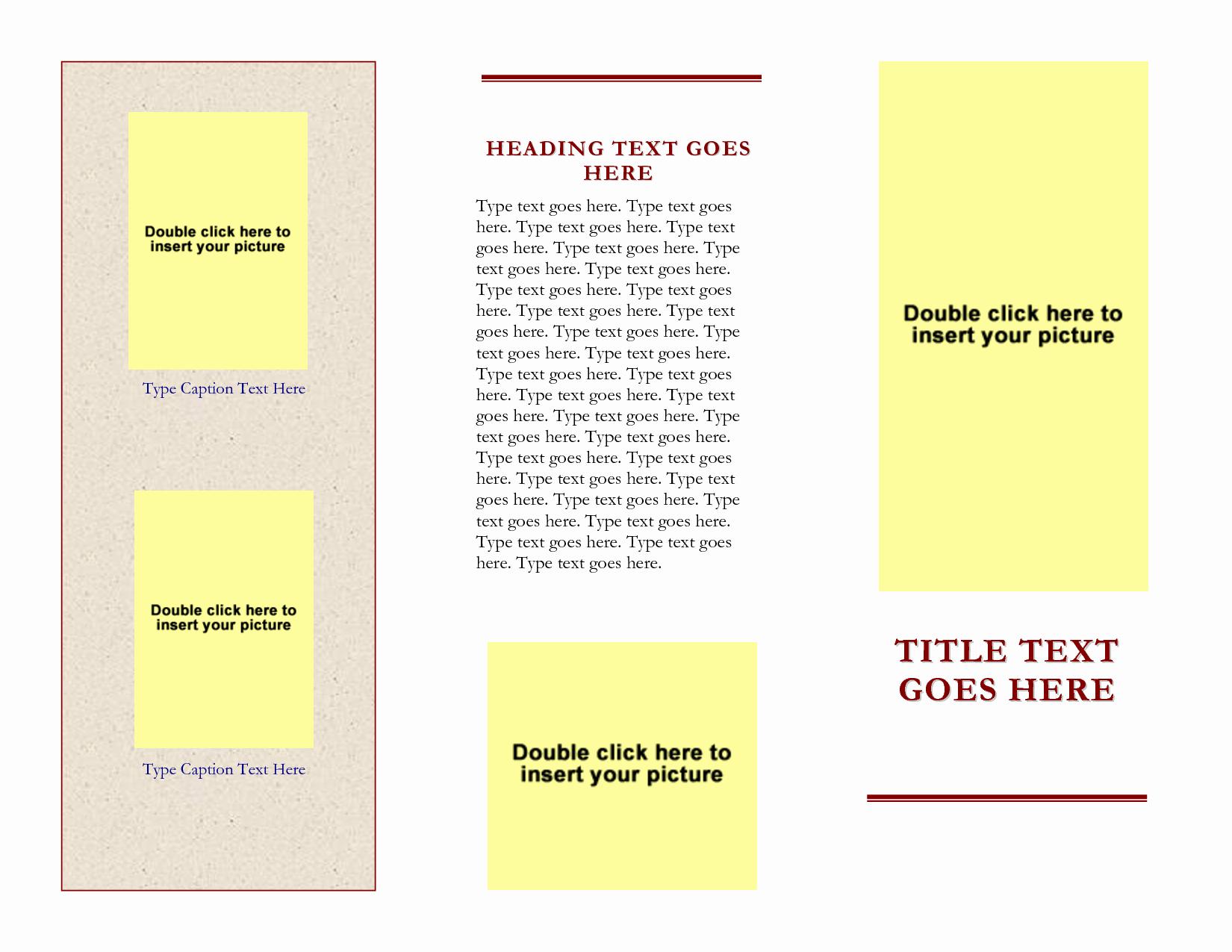3 Fold Brochure Template Word Luxury Free Tri Fold Brochure Templates for Word