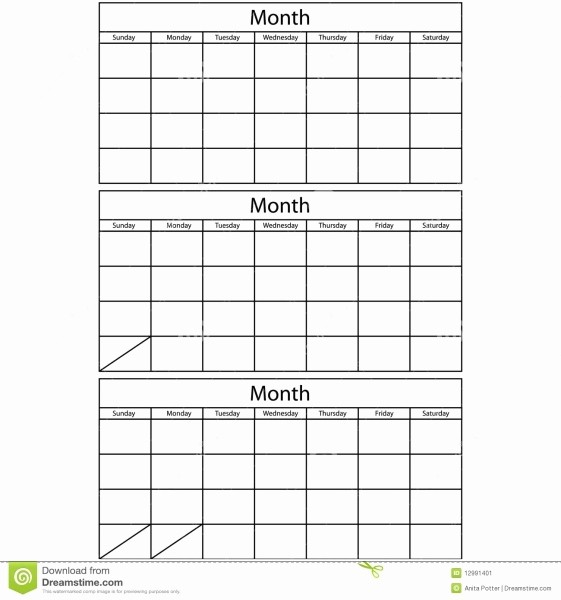3 Month Blank Calendar Template Awesome Free Printable 3 Month Calendar Template