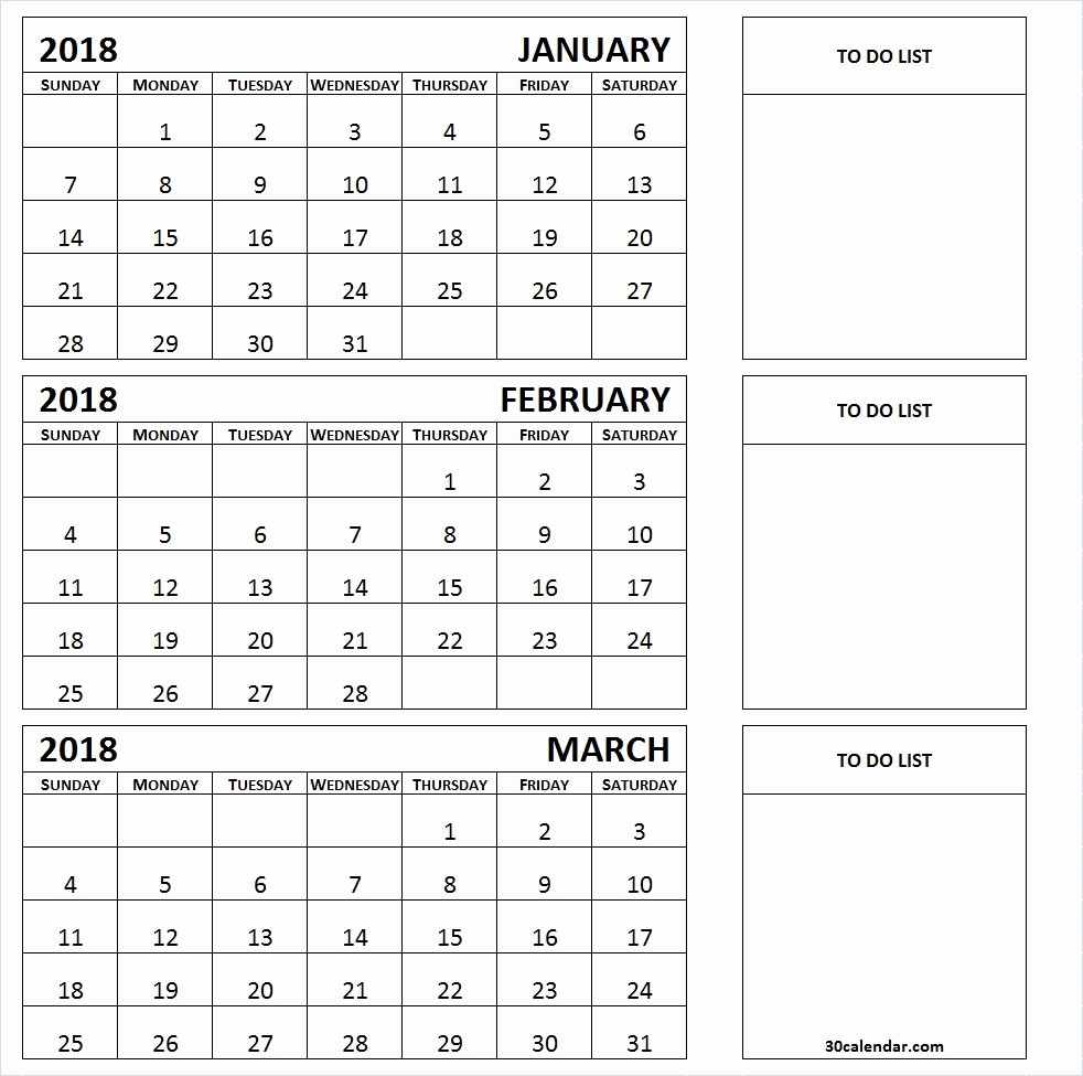 3 Month Blank Calendar Template Beautiful Next 3 Month Calendar Template 2018