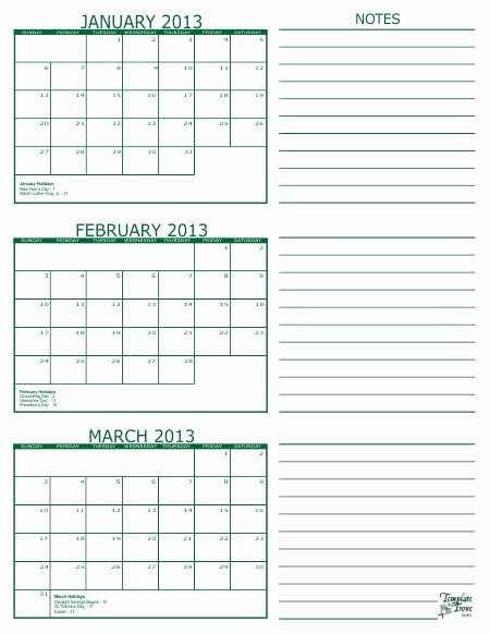 3 Month Blank Calendar Template Fresh Free Printable 3 Month Calendar In Pdf format Five Colors