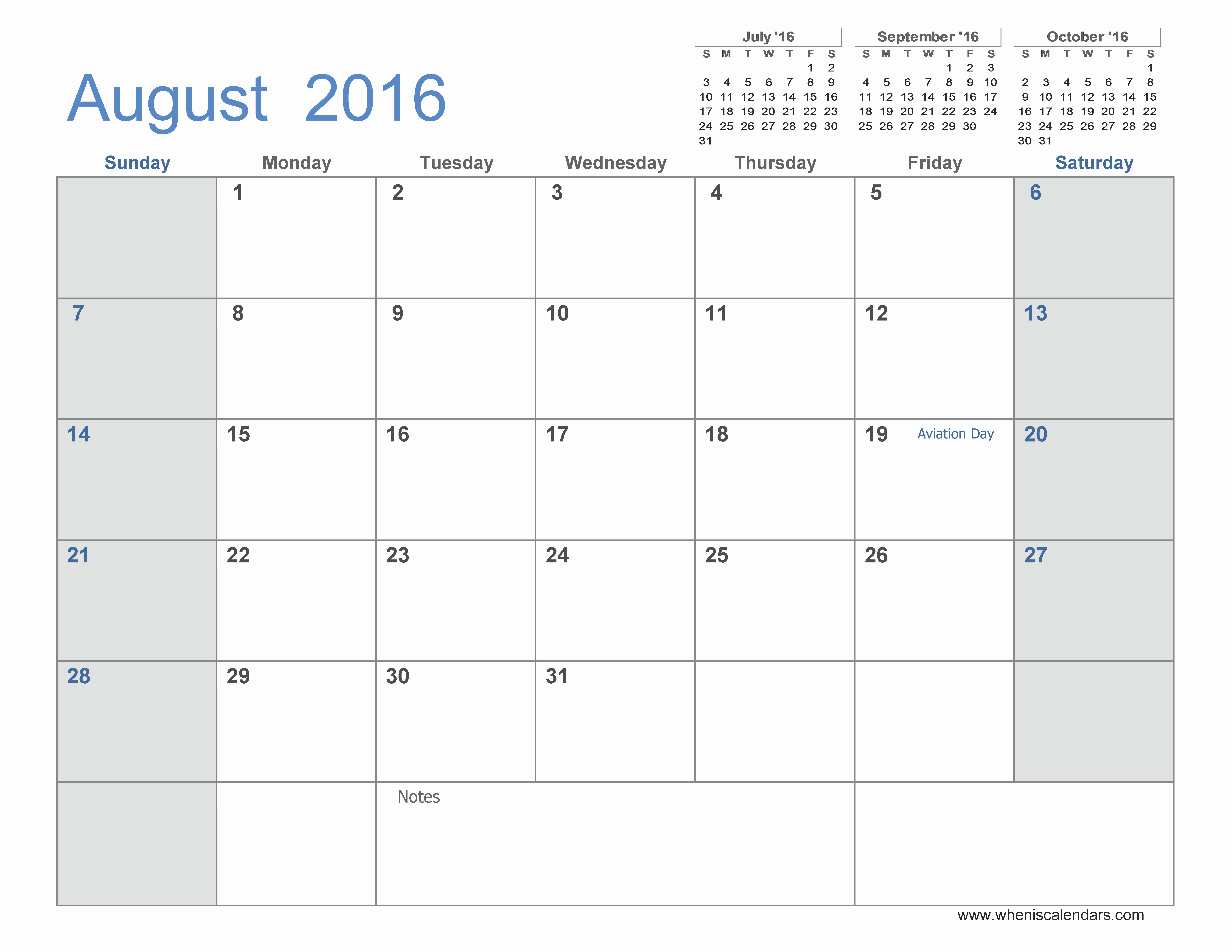 3 Month Calendar 2016 Template Awesome Calendar 2016 by Month to Print Aug 2016 Monthly Calendar