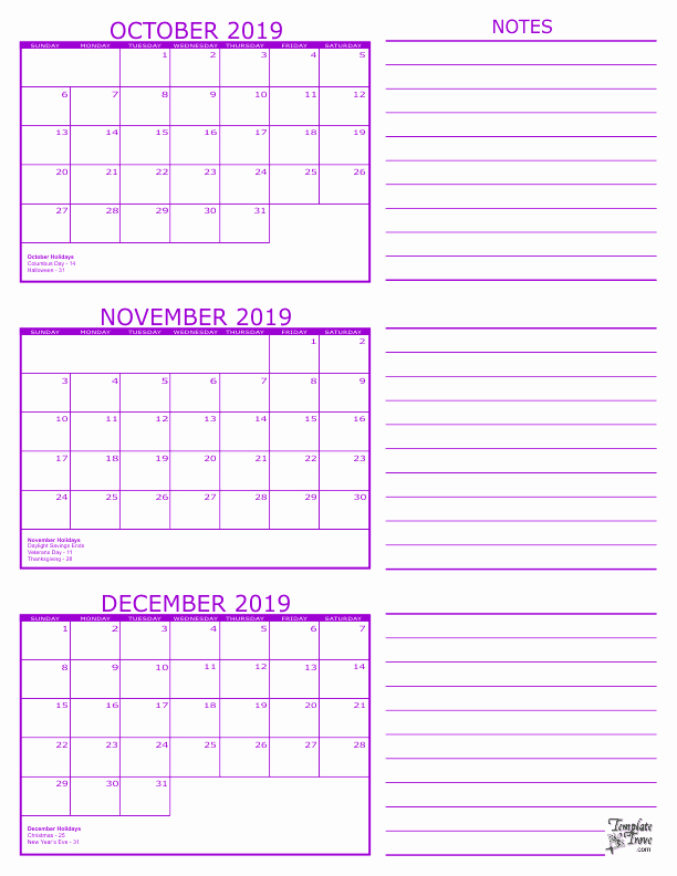 3 Month Calendar Printable 2016 Fresh 3 Month Calendar 2019