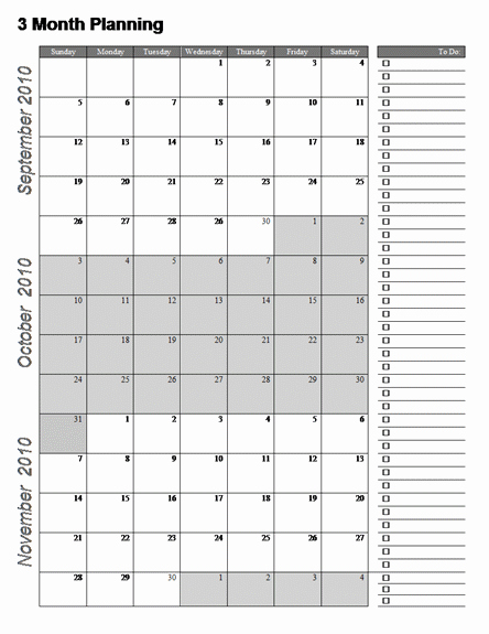 post 3 month printable calendar online