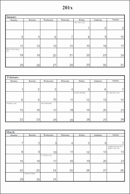 3 Month Calendar Printable 2016 Unique 3 Month Calendar Template 2016 Printable – Metforminfo