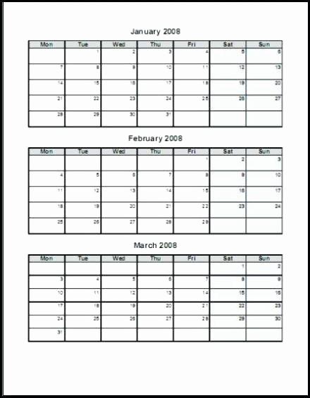 3 Month Calendar Template Word Beautiful 3 Month Calendar Template Word – asusdriversfo