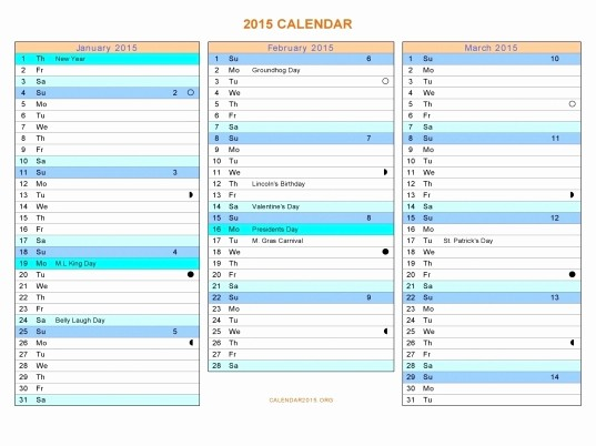 3 Month Calendar Template Word Beautiful Three Month Calendar Template