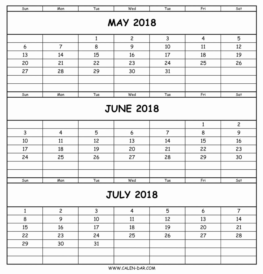 3 Month Calendar Template Word Elegant Three Month Calendar Template Word
