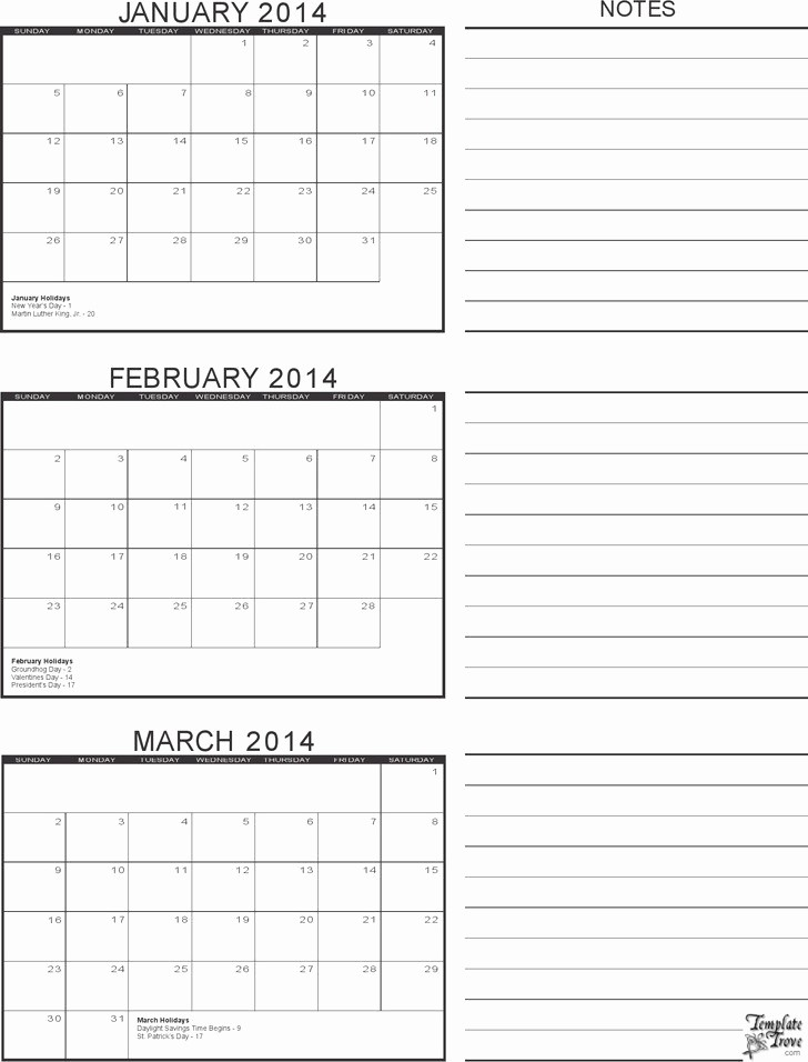 3 Month Calendar Template Word Luxury Three Month Calendar Template Word