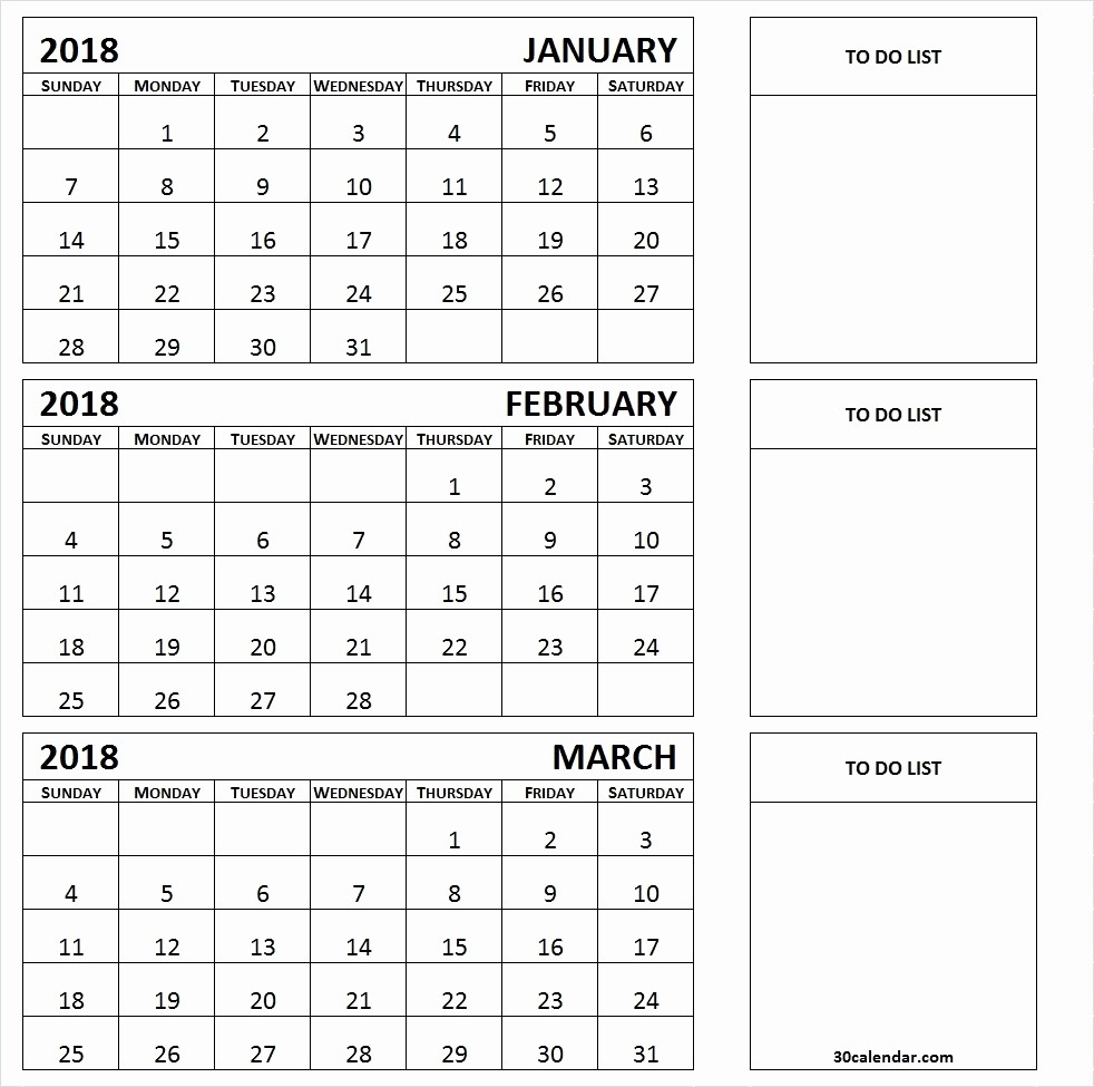 3 Month Calendar Template Word Unique 3 Month Summer Calendar 2018 Printable