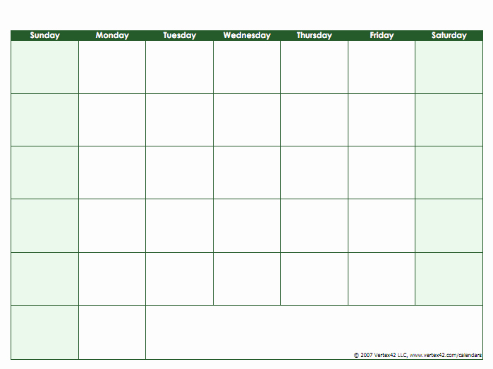 30 Day Calendar Template Word Awesome Blank Calendar Template Free Printable Blank Calendars