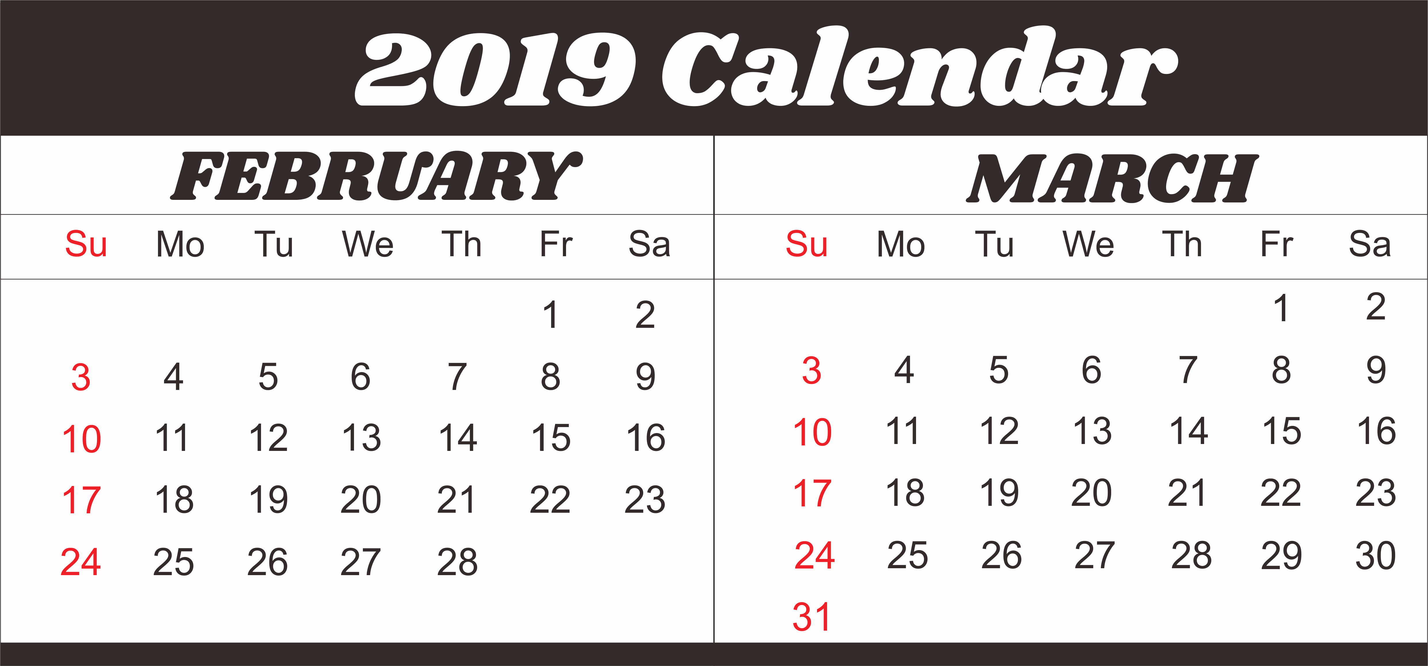 30 Day Calendar Template Word Awesome Free February & March & April 2019 Printable Calendar