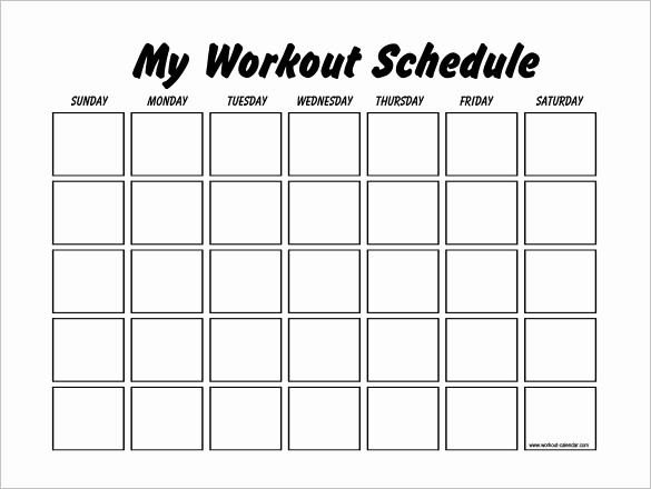 30 Day Calendar Template Word Fresh 22 Workout Schedule Templates Pdf Doc