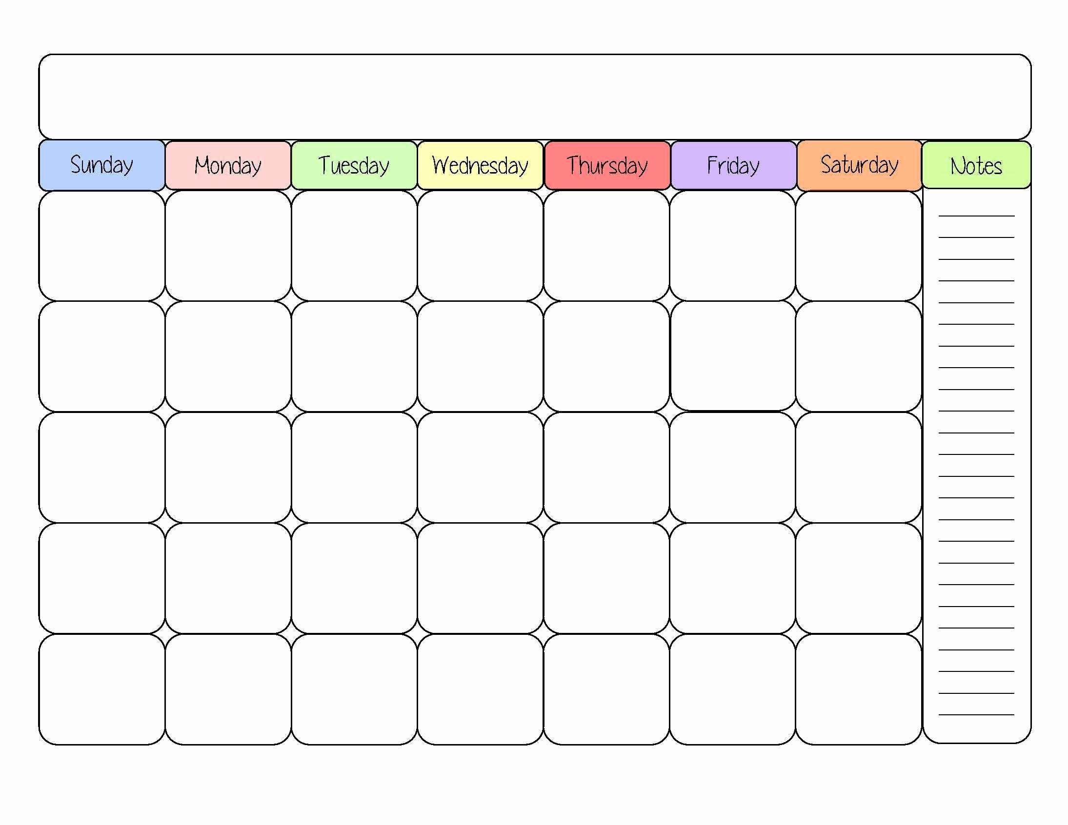 30 Day Calendar Template Word Fresh Printable 30 Day Calendar Baskanai
