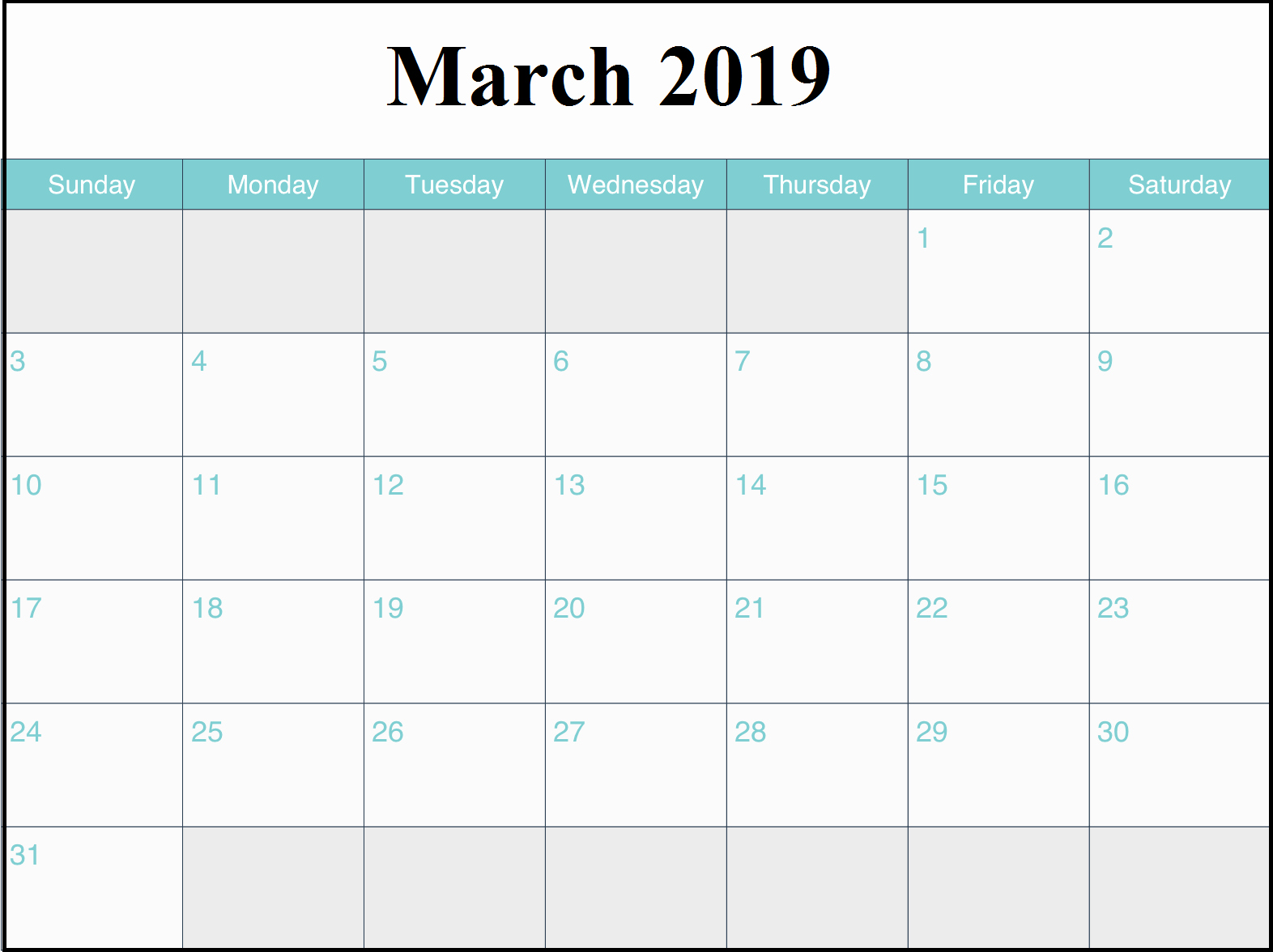30 Day Calendar Template Word Inspirational Free March 2019 Calendar Pdf Word Excel Vertical Xls