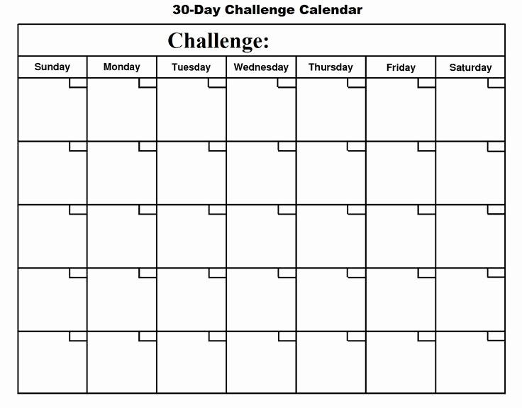 30 Day Calendar Template Word Unique 30 Day Calendar Google Search