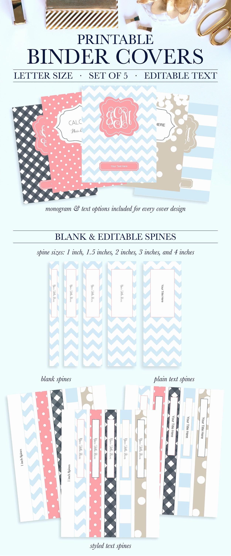 4 Inch Binder Spine Template Elegant School Binder Cover Printable Teacher Binder Inserts Student