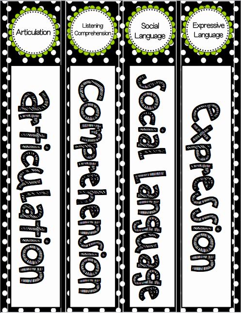 4 Inch Binder Spine Template New Editable Speech and Language Binder Labels Speech 2u