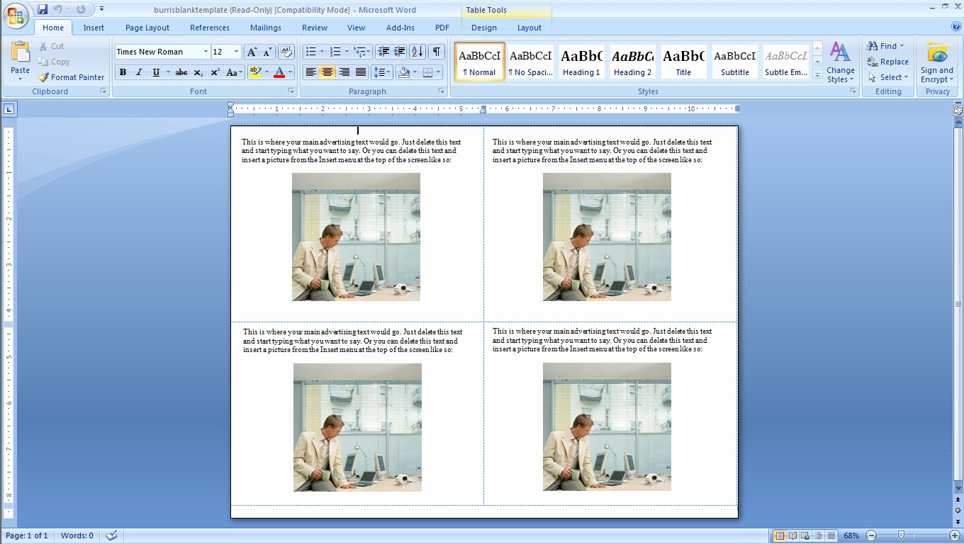 4 Per Page Postcard Template Elegant How to Make Four Postcards the Same Sheet In Word