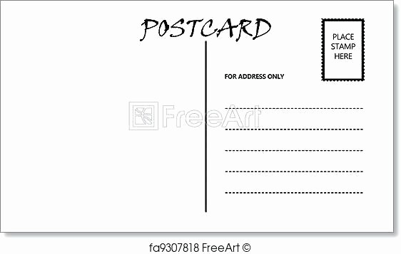 4 Per Page Postcard Template Lovely Blank Postcard Template Free Blank Postcard Template for