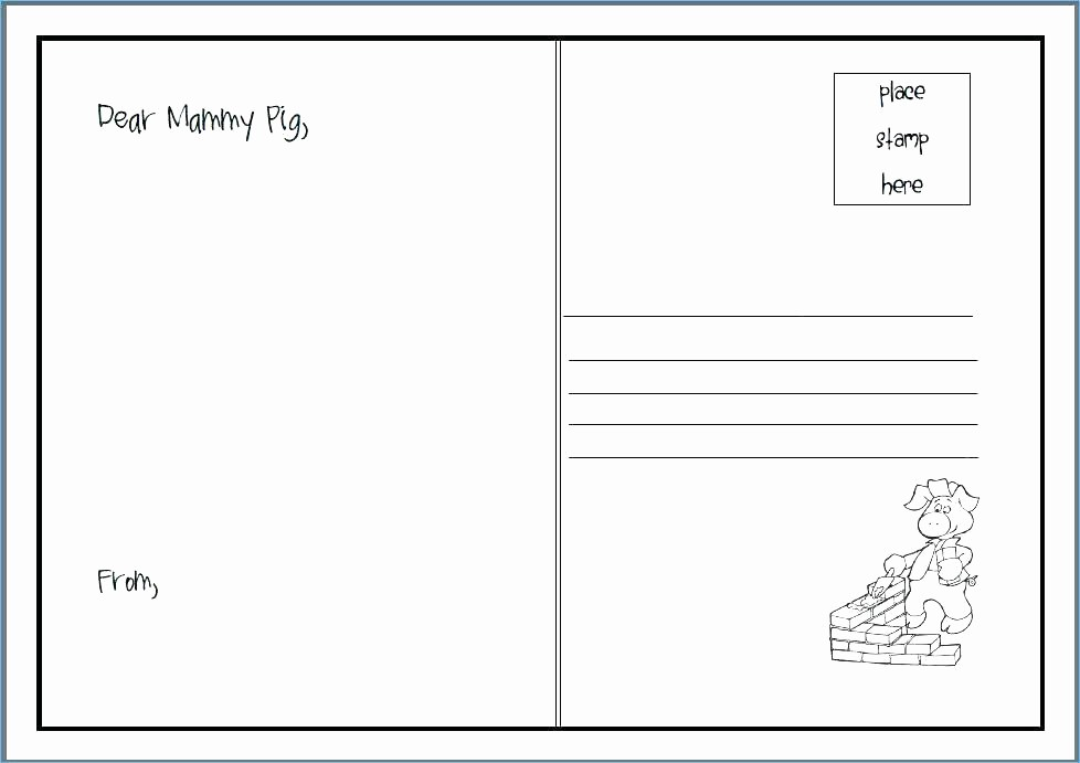4 Per Page Postcard Template Luxury Blank Postcard Template Word Postcard Template Word Free 4