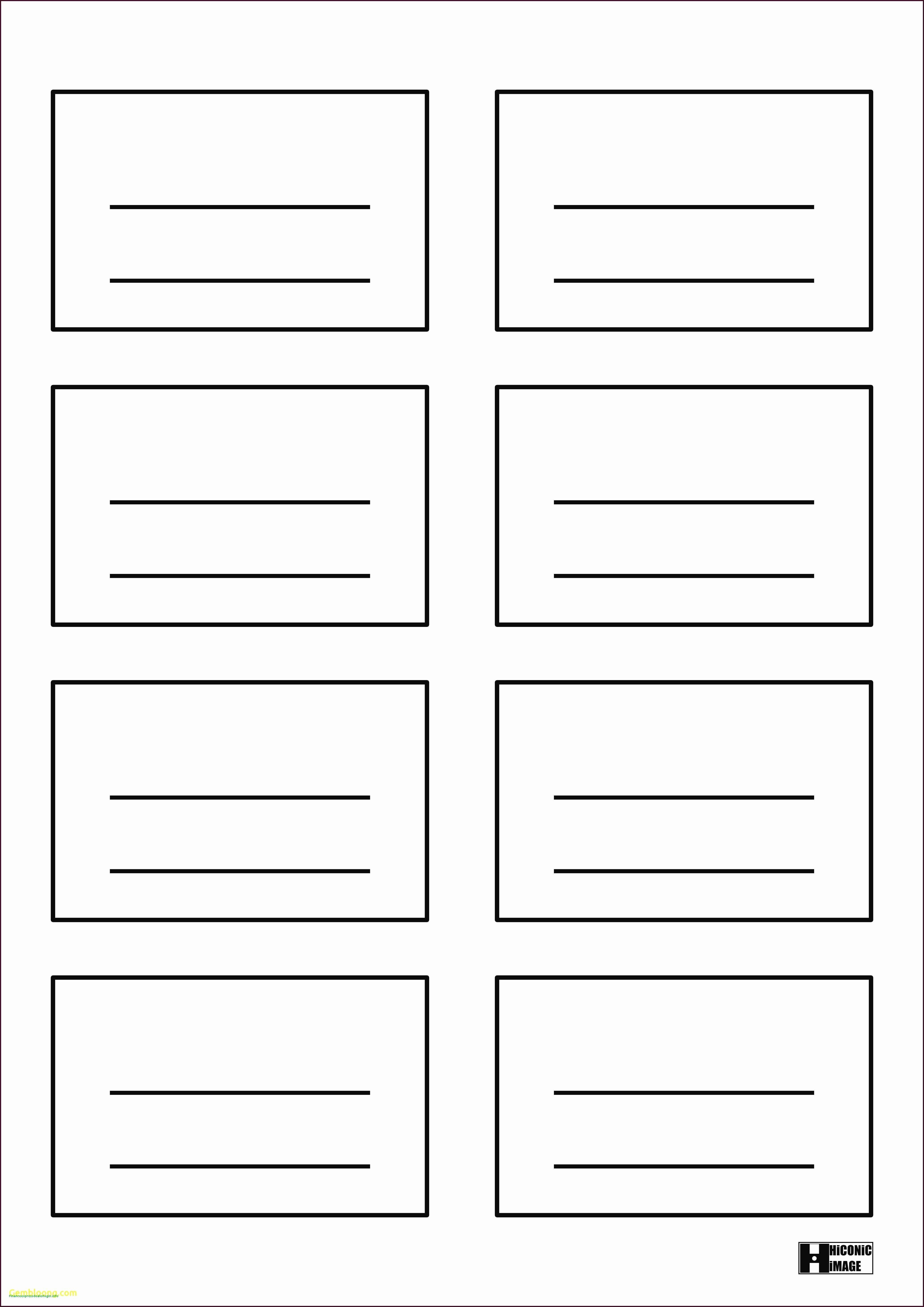 4 Up Postcard Template Word Awesome Luxury 4x6 Index Card Template for Word