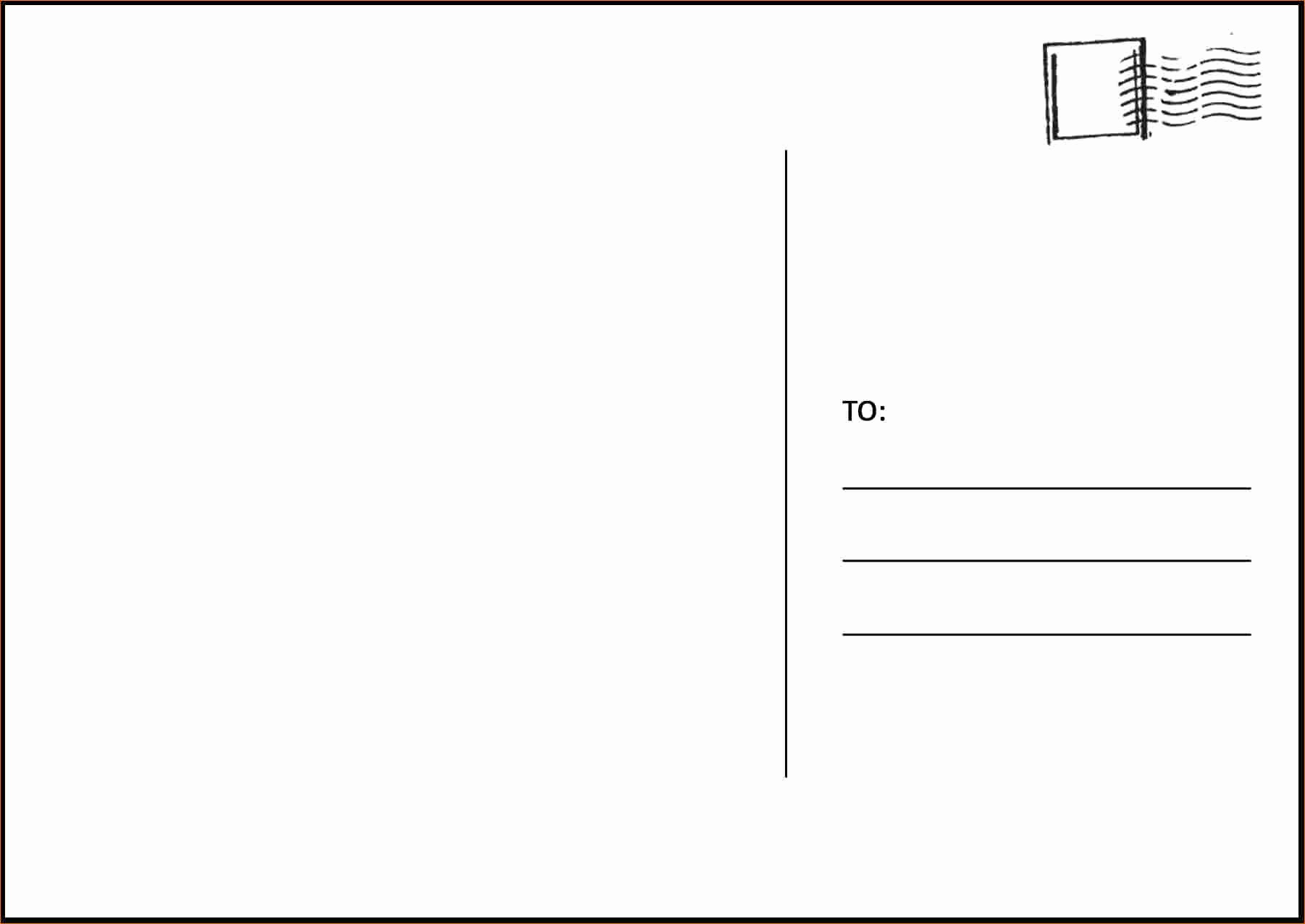 4 Up Postcard Template Word Awesome Postcard Template for Word Bamboodownunder