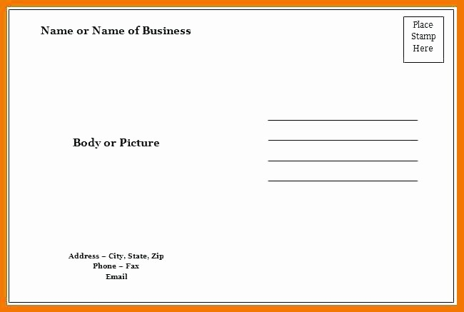 4 Up Postcard Template Word Luxury Blank Postcard Template Word Ms Word Postcard Template 4