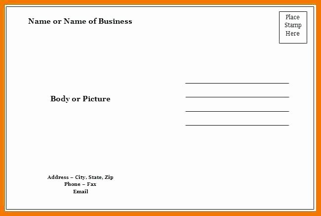 4 Up Postcard Template Word Luxury Blank Postcard Template Word Ms Word Postcard Template 4