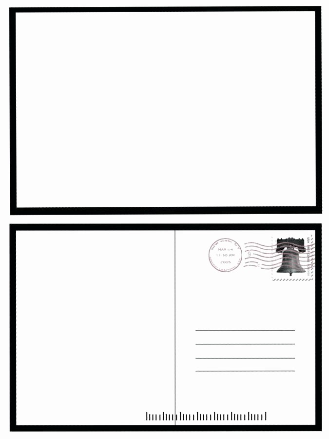 free printable 4x6 postcard template word image blank for 4 per page