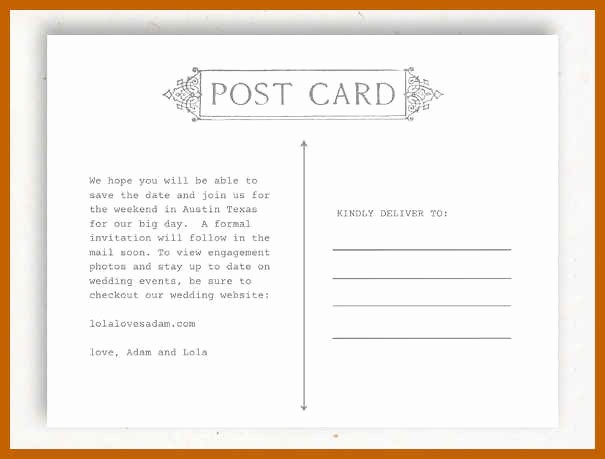 4 Up Postcard Template Word New 4 5 Word Postcard Template