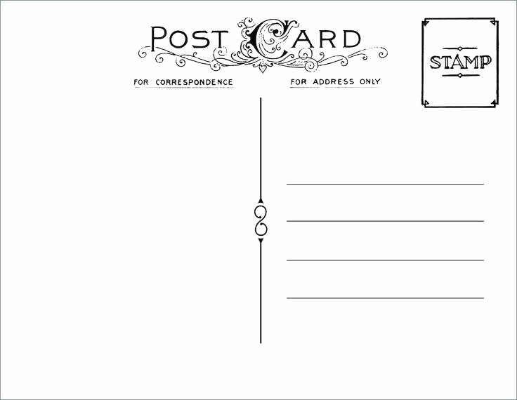 4 Up Postcard Template Word Unique Printable Postcard Template Free Word Image Ideas Blank