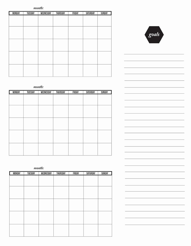4 X 6 Calendar Template Awesome 58 Best Blank Calendar Images On Pinterest
