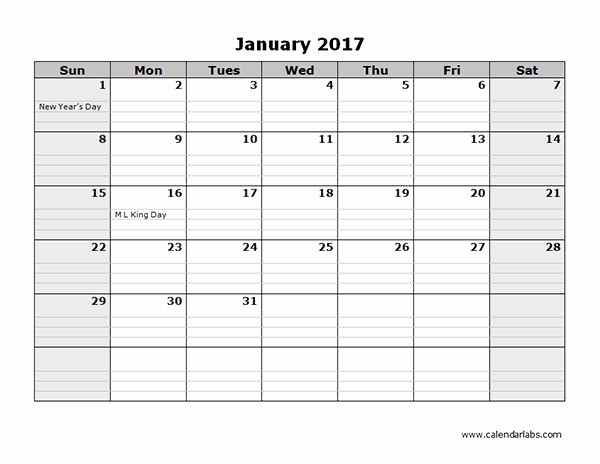 4 X 6 Calendar Template Beautiful 2017 Monthly Calendar Template 08 Craft