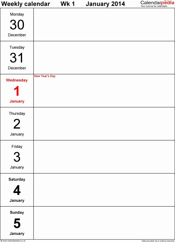 4 X 6 Calendar Template Lovely Best 25 Weekly Calendar Template Ideas On Pinterest