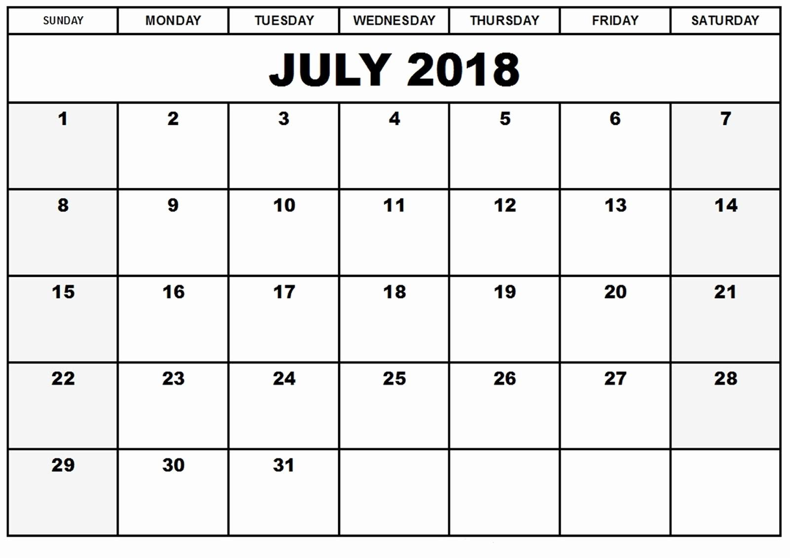 4 X 6 Calendar Template Lovely Free 2018 Monthly Calendar Templates 4x6 – Template