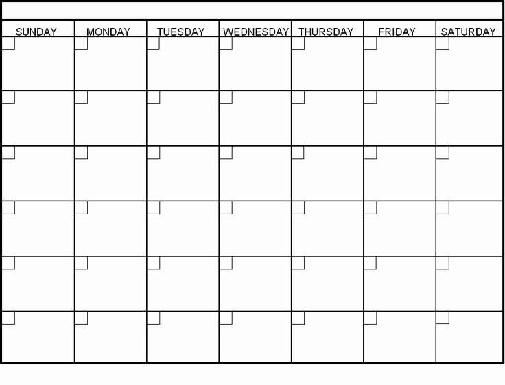 4 X 6 Calendar Template Luxury 58 Best Blank Calendar Images On Pinterest
