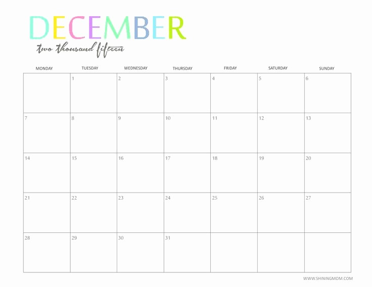 4 X 6 Calendar Template New Dec Calendar 4×6 Template